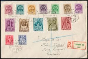 1939 Templom I. sor ELSŐNAPI ajánlott levélen Angliába