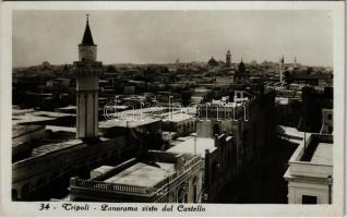 Tripoli, Panorama visto dal Castello / general view from the castle. Cav. Vittorio Aula