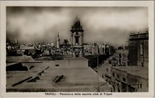 Tripoli, Panorama della vecchia citta di Tripoli / general view, automobiles. Fot. La Commare