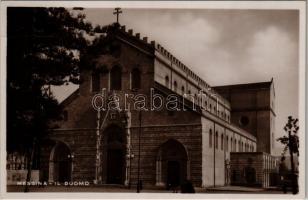 Messina, Il Duomo / cathedral. Vera Fotografia N. 27. (crease)