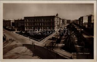 Bari, Corso Cavour / street view, tram, bicycle. Ed. Cav. G. Lobuono
