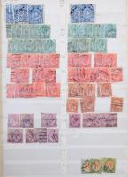 Dél-Afrikai Köztársaság 1910-1980 több példányos előrendező 15 lapos Schaubek rugós berakóban