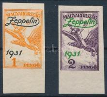 1931 Zeppelin ívszéli vágott sor (100.000) (1P gyártási gumihiba / gum disturbance)