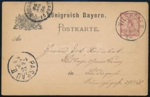 Német Államok Bayern 1886