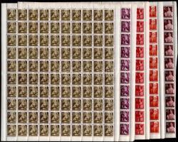 1945 Nagyasszonyok komplett sor teljes 100-as ívekben (20.000)