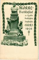 1905 Morre Volksfest zu Gunsten des Denkmalfonds. Industriehalle Graz / Monument funding festivals advertising postcard. Lith. Oscar Rohr (Rb)
