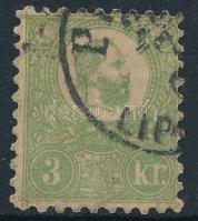 1871 Kőnyomat 3kr PE(ST) / LIP(ÓTVÁROS) (140.000)