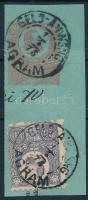 1873 Réznyomat 25kr, 5kr postautalvány kivágáson GELD-ANWSNG / AGRAM