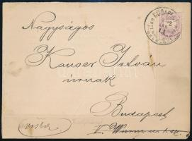 1890 Nyomtatvány 2kr bélyeggel BUDAPEST / OSZT. MAGY. ÁLLAM P. U. / DÉLELŐTT