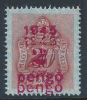 1945 Kisegítő portó 2P értéke kettős felülnyomattal