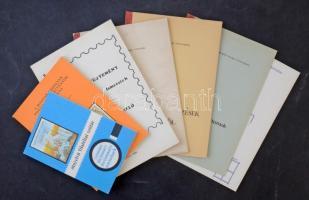 7 db filatéliai szakkönyv