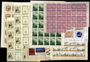 8 db komplett ív + 4 bélyegfüzetlap + 4 db ívdarab (~28.500)