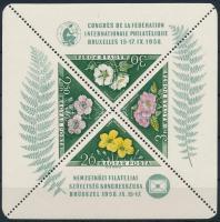 1958 FIP I. Virág blokk (10.000) (gumihiba / gum disturbance)