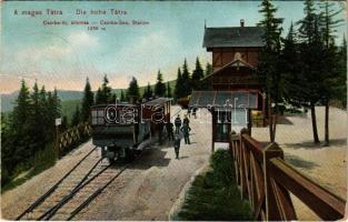 1909 Tátra, Magas Tátra, Vysoké Tatry; Csorba-tó fogaskerekű vasútállomás. Dr. Trenkler Co. 1906. Tát. 53. / Csorba-See, Station / Strbské pleso funicular railway station (EK)