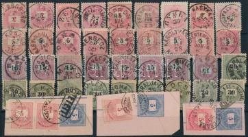 43 db krajcáros bélyeg szép, olvasható bélyegzésekkel