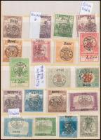 1919 Megszállás (Erdély, Kolozsvár, Nagyvárad) kis tétel eltolódott felülnyomásokkal, 36 db bélyeg