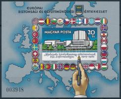 1985 Európai Biztossági és Együttműködési Értekezlet (VIII.) vágott blokk (5.500)