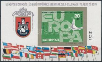 1977 Európa biztonsági és együttműködési értekezlet vágott blokk (5.000) (ujjlenyomat)