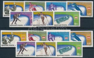 1975 Téli Olimpia (V.) - Innsbruck ívszéli fogazott és vágott sor (4.800)
