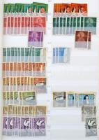 Portugália 1858-1988 Több példányos főleg bélyegzett készlet 2 db 30 lapos A/4 rendező berakóban