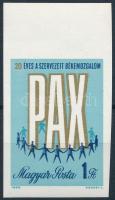 1969 20 éves a Szervezett Békemozgalom vágott bélyeg