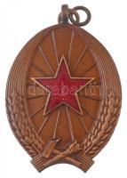 1950. Magyar Munka Érdemérem kitüntetés, hátlapján 1949 évszámmal, mellszalag nélkül T:1 Hungary 1950. Merit Medal of Hungarian Labour decoration, without ribbon C:UNC NMK.: 516.