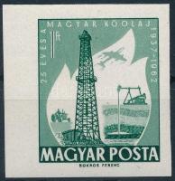 1962 Évfordulók - Események I. - 25 éves a magyar kőolaj vágott bélyeg
