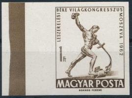1962 Évfordulók - Események I. - Leszerelési Béke Világkongresszus vágott ívszéli bélyeg