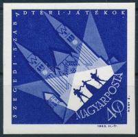 1963 Nagy Idők - Nagy események - Szegedi Szabadtéri Játékok vágott bélyeg