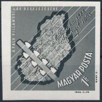 1963 Nagy Idők - Nagy események - Faluvillamosítás befejezése vágott bélyeg