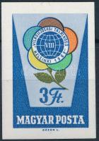 1962 Rózsák 3Ft záróérték vágott bélyeg