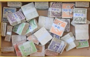 31 db vegyes Turul bündli, lemezhibákra, bélyegzésekre átnézetlen, régi hagyatékból, kis dobozban