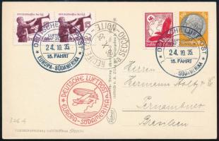Deutsches Reich 1935 Zeppelin dél-amerikai útja képeslap