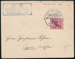 Német posta Kínában 1900 Levél Oppelnbe