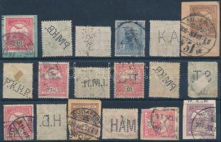 18 db céglyukasztásos Turul bélyeg