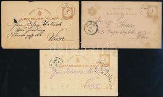 10 db díjjegyes levelezőlap az 1870-1890-es évekből