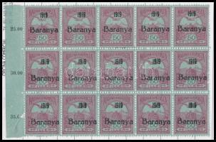 Baranya kis tétel, néhány száz bélyeg ívdarabokban noteszbe ragasztva + néhány modern alkalmi bélyegzés és postai tárgyú képeslap