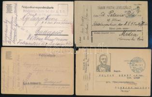 40 db első világháborús tábori posta lap