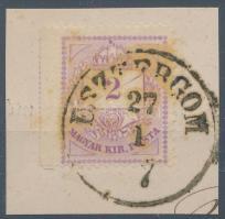 1874 2kr bal oldalon vágott, R! kivágáson ESZTERGOM