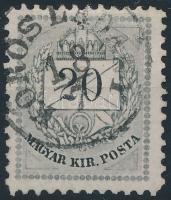 1874 20kr 11 1/2 fogazással, R!