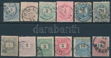 12 db Krajcáros bélyeg