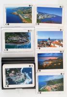 Szuvenír játékkártya Madeira és Porto Santo képeivel, műanyag tokban