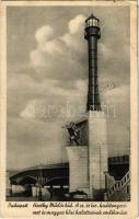 1941 Budapest, Horthy Miklós híd, a Császári és Királyi haditengerészet és magyar hősi halottainak emlékműve / Memorial monument of the hero mariners of K.u.K. Kriegsmarine (Austro-Hungarian Navy) (EK)