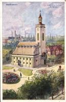 Diósgyőr, Vasgyár, református templom és paplak
