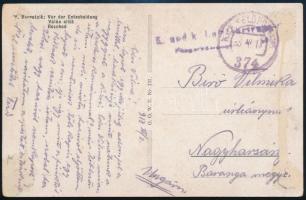 1918 Képeslap / Postcard K.u.k. Luftfahrtruppen Fliegerkompagnie Nr. 50 + FP 374