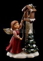 Goebel porcelán dísz. Harangozó angyal. Kézzel festett, jelzett, hibátlan 20 cm