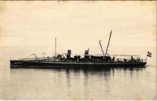 SMS Sperber (később SM TB 31) osztrák-magyar haditengerészet Schichau osztályú torpedónaszádja / SM Torpedoboot Sperber, K.u.K. Kriegsmarine / Austro-Hungarian Navy Schichau-class torpedo boat (later SM TB 31). Phot A. Beer (EK)