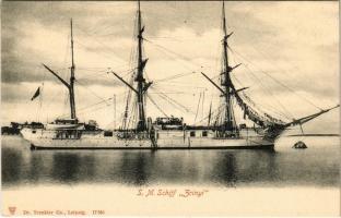 ~1900 SMS Zrínyi osztrák-magyar haditengerészet vitorlás korvettje / SM Schiff Zrínyi Schraubenkorvette, K.u.K. Kriegsmarine / Austro-Hungarian Navy corvette SMS Zrínyi