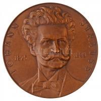 Ausztria DN Johann Strauss 1825-1899 egyoldalas Br emlékérem. Szign.: Arnold Hartig (75mm) T:1- Austria ND Johann Strauss 1825-1899 one-sided Br commemorative medallion. Sign: A. HARTIG (75mm) C:AU