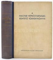 A Magyar Népköztársaság Büntető Törvénykönyve. Szerk.: dr. Popovics Béla. Bp., 1962, Közgazdasági és Jogi Könyvkiadó. Félvászon-kötésben.